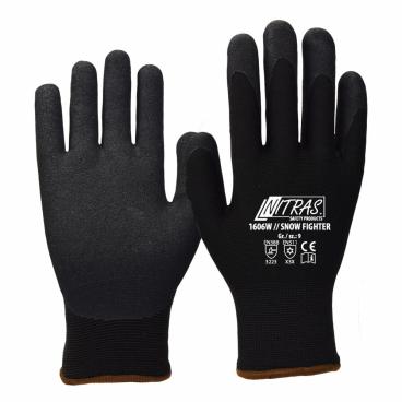 1606W SNOW FIGHTER zateplené pracovní rukavice s pískovým nitrilovým  povrstvením f9cb29101d