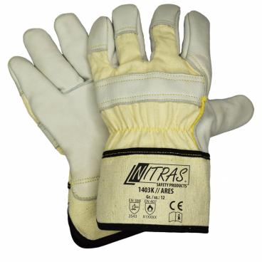 c073fb6fc6e 1403K ARES pracovní neprořezné kožené rukavice - Neprořezné rukavice ...