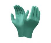 OVĚŘENÁ ODOLNOST PROTI POSTŘKU NEBEZPEČNÝMI CHEMIKÁLIEMI Zelené  antistatické jednorázové rukavice ze 100% 0 0419bcf070